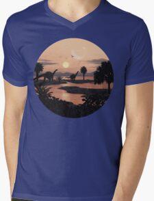 Jurassic Beach Mens V-Neck T-Shirt