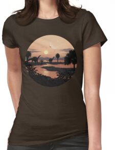 Jurassic Beach Womens Fitted T-Shirt