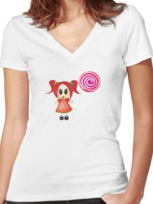 sweet like candy Women's Fitted V-Neck T-Shirt