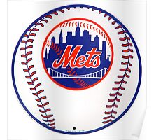 NEW YORK METS IN BALL Poster