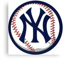 NEW YORK YANKEES INSIDE THE BALL Canvas Print
