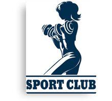 Athletic Sport Club Emblem Canvas Print