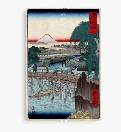 Ikkoku Bridge In the Eastern Capitol - Hiroshige Ando - 1858 - woodcut Canvas Print