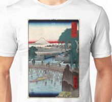 Ikkoku Bridge In the Eastern Capitol - Hiroshige Ando - 1858 - woodcut Unisex T-Shirt