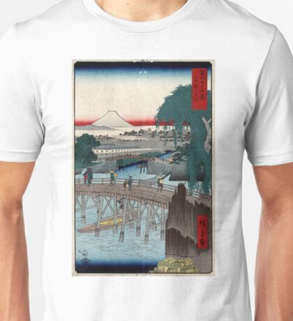 Ikkoku Bridge In the Eastern Capitol - Hiroshige Ando - 1858 - woodcut Unisex T-Shirt