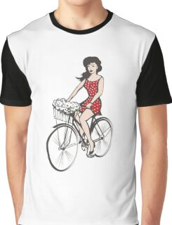 Girl on a bicycle Graphic T-Shirt