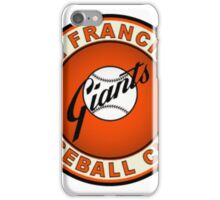 SAN FRANCISCO GIANTS BASEBALL iPhone Case/Skin
