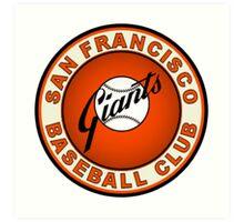 SAN FRANCISCO GIANTS BASEBALL Art Print