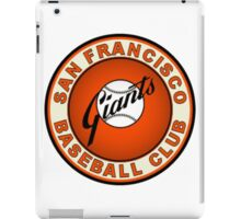 SAN FRANCISCO GIANTS BASEBALL iPad Case/Skin