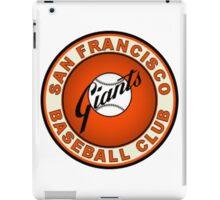 SAN FRANCISCO GIANTS BASEBALL iPad Case/Skin