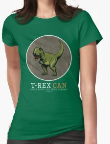 T-rex CAN... Womens Fitted T-Shirt