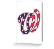 THE WASHINGTON NATIONALS Greeting Card