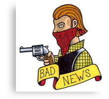 Bad News Tattoo Flash Canvas Print
