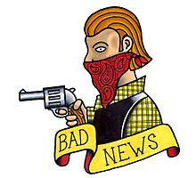 Bad News Tattoo Flash Photographic Print