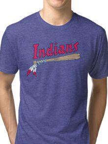 CLEVELAND INDIANS LOGO Tri-blend T-Shirt