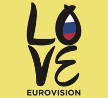 Love Eurovision [Russia] One Piece - Short Sleeve