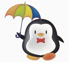 umbrella penguin Kids Tee
