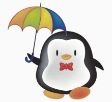 umbrella penguin Kids Tee