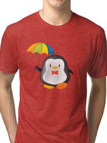 umbrella penguin Tri-blend T-Shirt