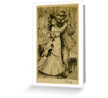 Auguste Renoir - The Dance in the Country 1890 Romantic Greeting Card