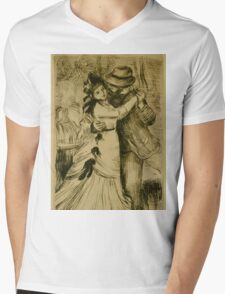 Auguste Renoir - The Dance in the Country 1890 Romantic Mens V-Neck T-Shirt