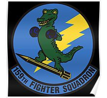 159th Fighter Squadron Emblem Poster