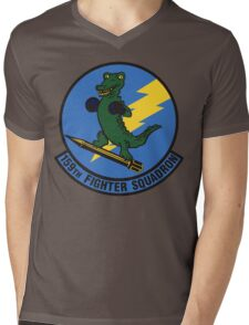 159th Fighter Squadron Emblem Mens V-Neck T-Shirt