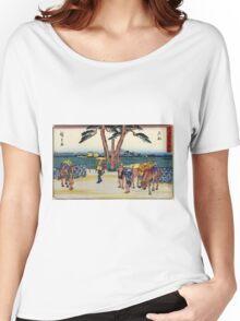 Ishibe - Hiroshige Ando - 1838 - woodcut Women's Relaxed Fit T-Shirt