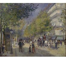 Auguste Renoir - The Grands Boulevards 1875  Impressionism Landscape Photographic Print