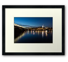 British Symbols and Landmarks - Silky Reflections Saint Paul's Cathedral and Blackfriars Bridge Framed Print