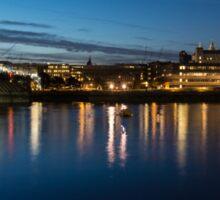 British Symbols and Landmarks - Silky Reflections Saint Paul's Cathedral and Blackfriars Bridge Sticker