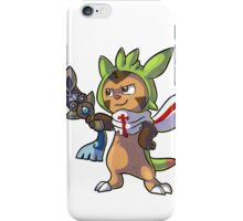 Chespin The Swordman with scraf iPhone Case/Skin