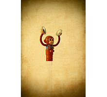 monkey toy with cymbals Photographic Print