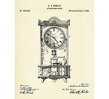 Advertising Clock-1888 Photographic Print