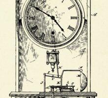 Advertising Clock-1888 Sticker