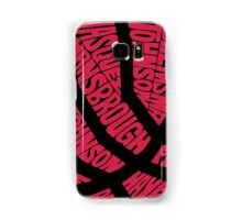 Basketball in Typhography Samsung Galaxy Case/Skin