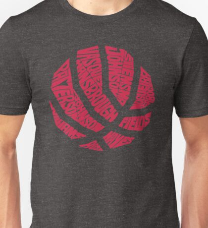 Basketball in Typhography Unisex T-Shirt