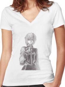 Kurapika Sketch Women's Fitted V-Neck T-Shirt