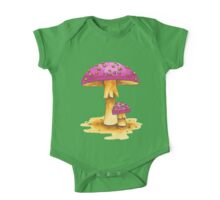 Magical Pink Toadstools One Piece - Short Sleeve