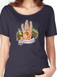 Homies West Coast Hand Sign tattoo flash Women's Relaxed Fit T-Shirt