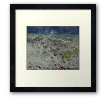 Auguste Renoir - The Wave 1882 Impressionism  Landscape Framed Print