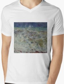 Auguste Renoir - The Wave 1882 Impressionism  Landscape Mens V-Neck T-Shirt