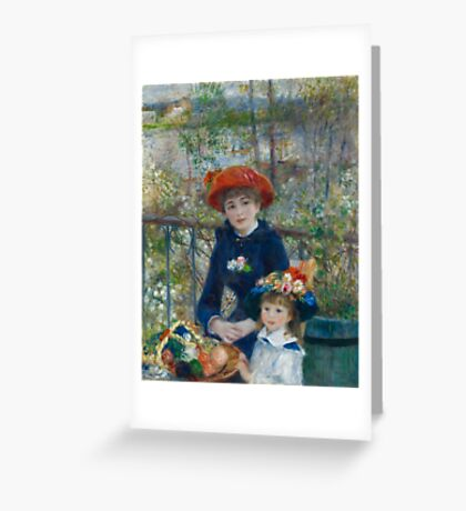 Auguste Renoir - Two Sisters On the Terrace 1881 Greeting Card
