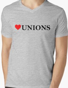 Love Unions Mens V-Neck T-Shirt