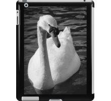 Monochrome Swan iPad Case/Skin