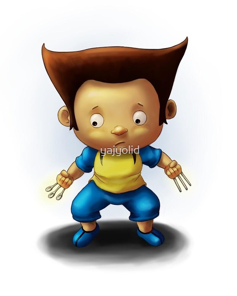 Mini Wolverine Fan Art by yajyolid