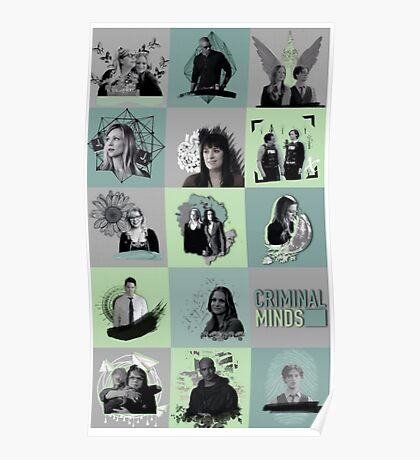 Criminal Minds collage Poster