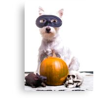 Happy Halloween Dog Canvas Print