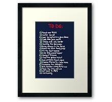 To-Do Framed Print
