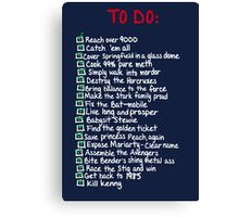 To-Do Canvas Print